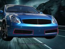 Fits 03-07 Infiniti G35 2 Door Coupe Black Billet Grille Bumper Insert  Fedar