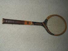 Vintage Jimmy Conners Autograph Wilson Champion Wooden Tennis Racket