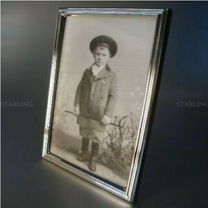 KLASSISCH DEZENT FOTORAHMEN BILDERRAHMEN SILBERRAHMEN 925 STERLING SILBER(V)