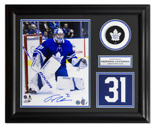 Frederik Andersen Toronto Maple Leafs Signed Jersey Number 19x23 Frame LE/#31