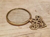 Antique Vintage Style small Brass Ornate Magnifying Glass Lens