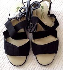 Womens 7.0 Black Sandals/Shoes Palm Harbour Velcro Low New w/o Box