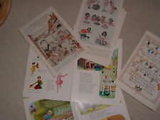GREAT COLLECTABLE PAGES  FROM CHILDRENS NURSERY RHYMES MAGAZINES