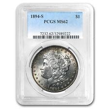 New listing 1894-S Morgan Dollar Ms-62 Pcgs - Sku #83524