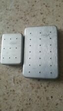 Lot of 2 Perrine Aluminum Fly Boxes #92 and #67, with 50+ flies great condition!
