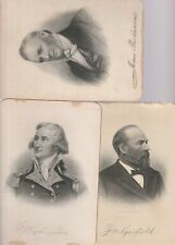 GROUP OF 16 19TH CENT. UNIQUE CARDS OF PRESIDENTS & REVOLUTION HEROES-WASHINGTON