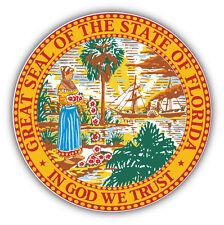 Florida State Seal USA Car Bumper Sticker Decal 5'' x 5''