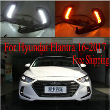 LED DRL Foglights Lamp For Hyundai Elantra 17-18 AD LH RH Pair Amber Turn Signal