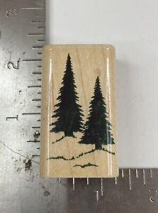 Pine Trees by Inkadinkado 6705K Rubber Stamp  Christmas Holiday Nature