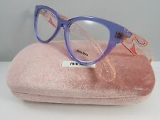 Miu Miu VMU 03N TIF-1O1 Transparent Purple New Authentic Eyeglasses 53mm w/Case