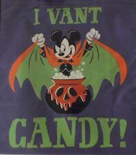 NEW Disney Halloween 2018 Candy Vampire Mickey Minnie Trick Treat Tote Bag Tag