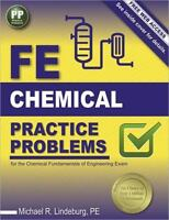 FE Chemical Practice Problems by Michael R. Lindeburg Textbook Study Book Exam