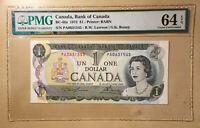 Canada BC-46a 1973 $1 S/N Prefix PA0631545 Lawson   Bouey PMG 64 EPQ Cats $80