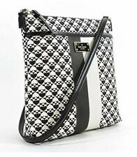 NWT Kate Spade Keisha Penn Place PVC Crossbody Handbag Black/White $198