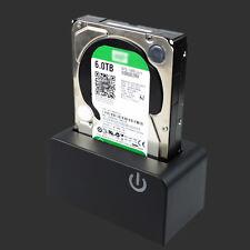 USB 3.0 SATA Hard Drive Dock 3.5''/2.5'' HDD SSD Docking Station Touch Sensing #