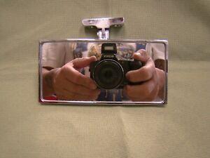 chrome rectangular rear view mirror universal rear view mirror bolt on mirror