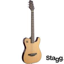 J.N Guitars EW3000Cn Spruce Top Electric Acoustic Guitar Natural + Built In EQ