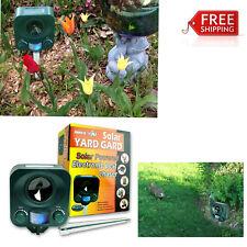 Solar Ultrasonic Electronic Pest Repellent Deterrent deer, rabbits, raccoons,