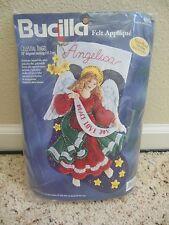 """Bucilla Celestial Angel Christmas Stocking Felt Applique Kit 18"""" Retired 83956"""