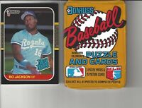 1987 Donruss Bo Jackson Rookie Baseball Card + One Unopened Wax Pack