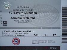 TICKET 2007/08 FC Bayern München - Arm. Bielefeld