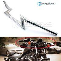 "12/"" BLACK EL DIABLO APE HANGERS HANDLEBARS 1.25/"" 2004-10 Kawasaki VN2000A Vulcan"