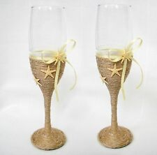 Wedding Glasses Set. Beach Wedding. Champagne Glasses. Wine Glasses. Starfish