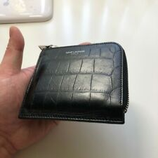 SAINT LAURENT Leather Wallet Pouch