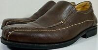 Sandro Moscoloni Mens 12D Troy Floater Dark Brown Sedona Leather Dress Shoes VGC