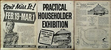 More details for practical householder exhibition, empress hall earls court london advert 1958
