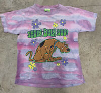 VINTAGE 90s SCOOBY-DOO TYE-DYE T-SHIRT MEN'S S  1998 Cartoon Network