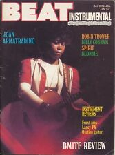 Beat Instrumental Magazine October 1978 Joan Armatrading, Robin Trower, Blondie