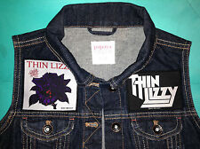 Thin Lizzy Phil Lynott Girls Denim Cut-Off Sleeveless Jacket Waistcoat GiletVest