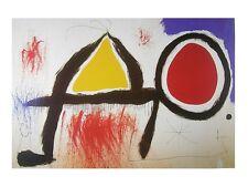 Joan Miro Personnage devant le soleil Poster Kunstdruck Bild 60x80cm - Portofrei