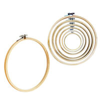 2pcs Embroidery Round Cross Stitch Hoops Bamboo Ring Sewing Frame Art Craft