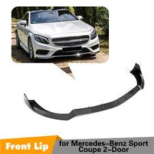 Carbon Fiber Front bumper Lip Spoiler for Mercedes Benz S500 S63 Coupe 15-17