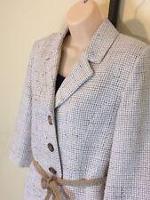 White House Black Market Off White Beige Oatmeal Tweed Jacket Blazer Size 10