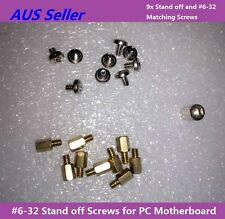PC Case Computer Motherboard Stand Off Screws #6-32 6mm High 1set for ATX board