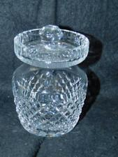"""WATERFORD CRYSTAL JAM JAR JELLY HONEY CONDIMENT 4"""" T 3"""" D"""
