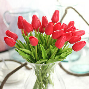 PU Tulips Imitation Floral Decor Wedding Party Home Lively Fake Flower Ornaments