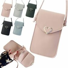 Touch Screen Cell Phone Cross-body Wallet Shoulder Bag Leather Pouch Case Women