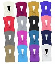 Unbranded Cowl Neck Hip Length Tops & Shirts for Women