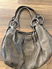 Women's Abro Green leather hobo shoulder Bag made in Italy