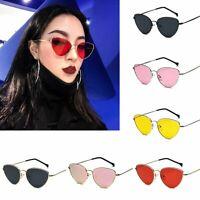 Women Cat Eye Sunglasses Color Lens Vintage Sun Glasses Eyewear Aviator Fashion