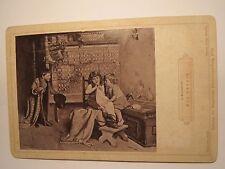 J. Kleinmichel - Ein Besuch - 1889 - Kinder Mädchen Junge -  Kunstbild / KAB