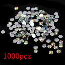 Wholesale 1000Pcs Nail Art Facets Rhinestone Flatback Crystal Round Beads 4mm