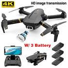 4K HD 1080P Drone X Pro 6 Axis Foldable RC Quadcopter Dual Camera WiFi FPV USA