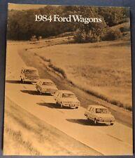 1984 Ford Station Wagon Brochure LTD Crown Victoria Escort Club Excellent Orig
