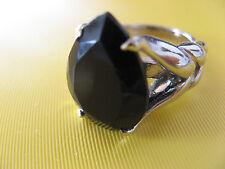 Schöner opulenter Onyx Ring in 925er Silber RW: 17 mit Zertifikat UNGETRAGEN!