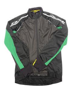 MAVIC Cosmic Softshell Cycling Jacket Mens Size M Black and Green Full Zip